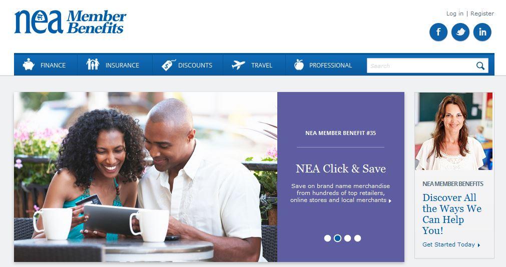NEA member benefits hotlink